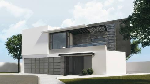 Vivienda La Ceiba:  de estilo  por Diez y Nueve Grados Arquitectos