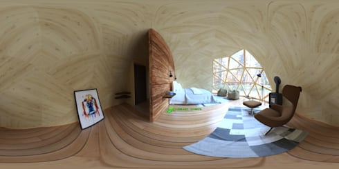 Domo Geodesico modelo Glamping 360º:  de estilo  por RENDER STUDIO