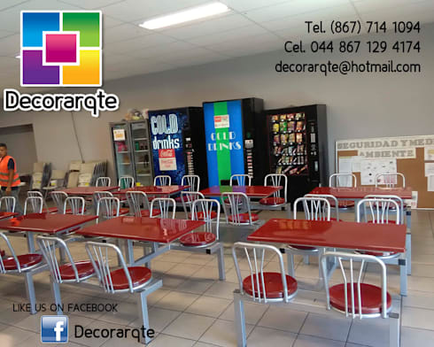 Comedor industrial de decorarqte homify for Diseno comedor industrial