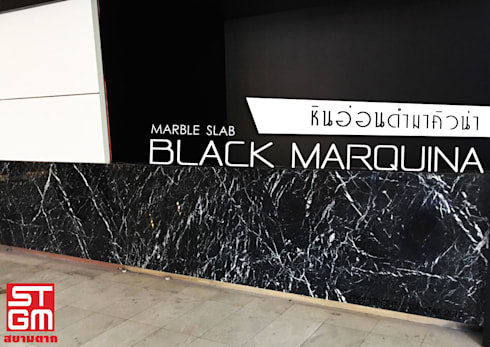 Black Marquina:  ตกแต่งภายใน by SIAMTAK CO., LTD.