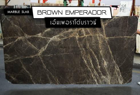 Brown Emperador:  พื้นและกำแพง by SIAMTAK CO., LTD.