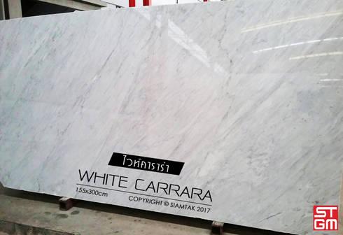 White Carrara:  พื้นและกำแพง by SIAMTAK CO., LTD.