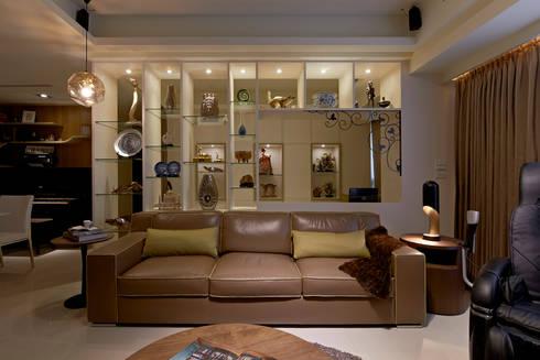 客廳背牆:  客廳 by 舍子美學設計有限公司