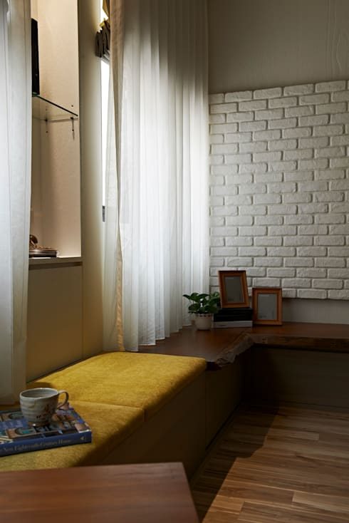 北歐美居:  客廳 by 舍子美學設計有限公司