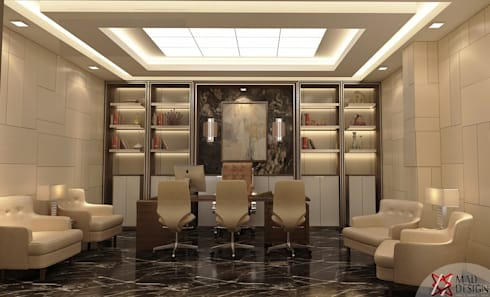 KANWAR ENTERPRISE OFFICE PROJECT BY MAD DESIGN:  Commercial Spaces by MAD DESIGN
