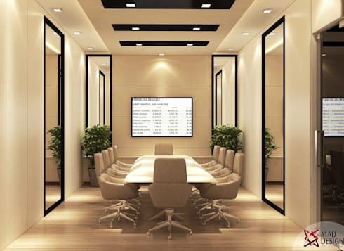 KANWAR ENTERPRISE OFFICE PROJECT BY MAD DESIGN:  Conference Centres by MAD DESIGN