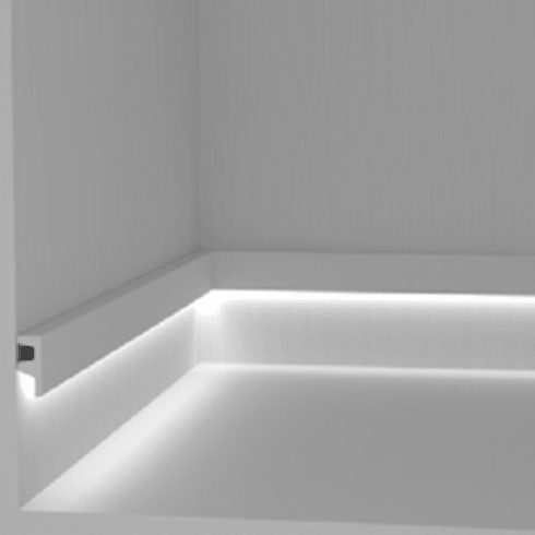 Battiscopa segnapasso e corrimano per luce diffusa di for Segnapasso led per scale interne