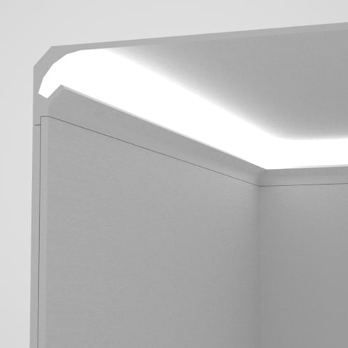 Cornici per luce diffusa tra parete e soffitto by Eleni Lighting  homify