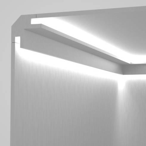 Cornici per luce diffusa tra parete e soffitto di Eleni Lighting  homify