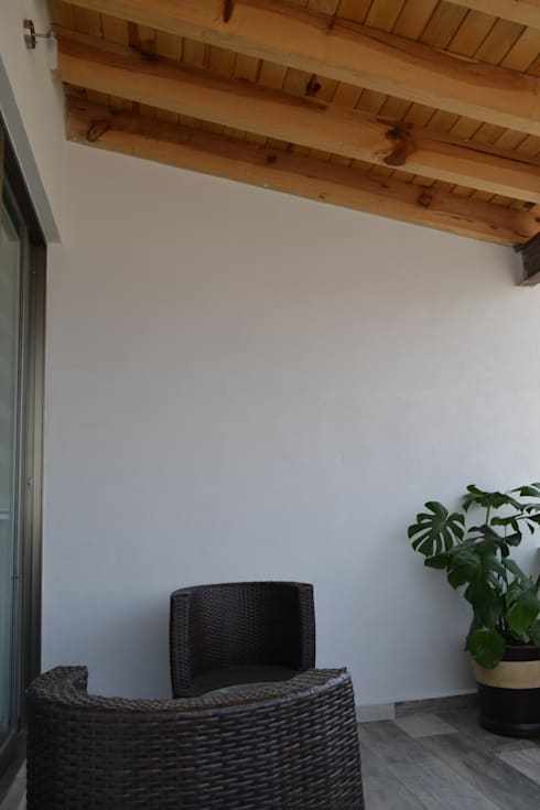 Terrazas de estilo  por ANTARA DISEÑO Y CONSTRUCCIÓN SA DE CV