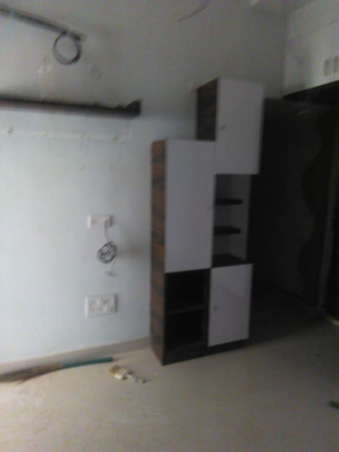 book shelf: minimalistic Bedroom by BYOD Dezigns