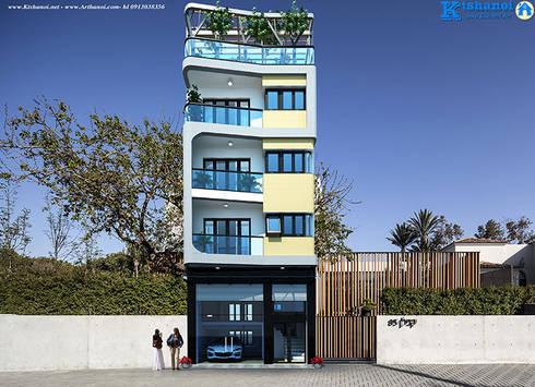 Mặt tiền mẫu biệt thự 5 tầng đẹp:   by Văn phòng kiến trúc Ktshanoi