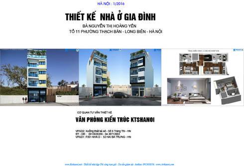 Thiết kế biệt thự đẹp 6,5x16m 5 tầng phong cách hiện đại:   by Văn phòng kiến trúc Ktshanoi