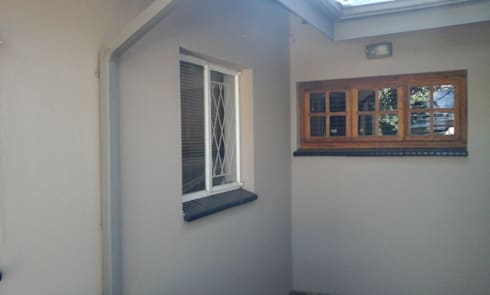 scullery & garage before:   by ALUWOOD WINDOWS AND DOORS