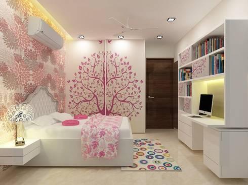 Daughter's Bedroom: minimalistic Bedroom by A Design Studio