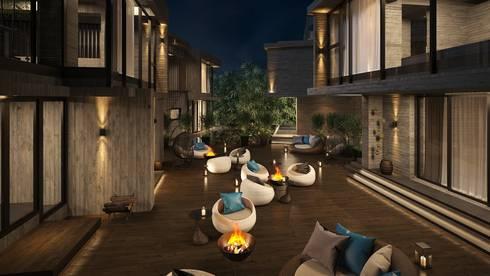 羊灣villa:  房子 by 禾御建築室內設計有限公司