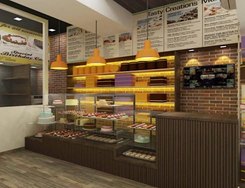 Cake Shop:  Commercial Spaces by A Design Studio