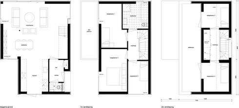 plattegronden:   door 8A Architecten
