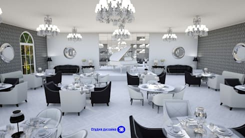 Restaurant in art-deco style:  Commercial Spaces by 'Design studio S-8'