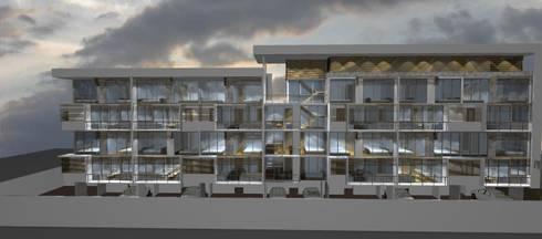 EDIFICIO BAKER: Casas de estilo moderno por Dušan Marinković - Arquitectura
