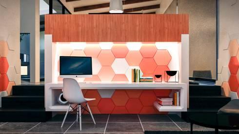 Estudio: Estudios y despachos de estilo moderno por Jaime Quintero Diseño