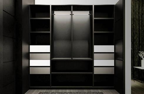 Vestier: Vestidores de estilo moderno por Jaime Quintero Diseño