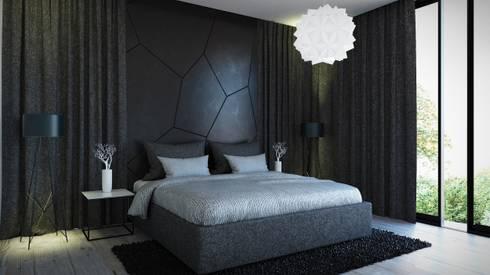 Habitación Principal: Habitaciones de estilo moderno por Jaime Quintero Diseño