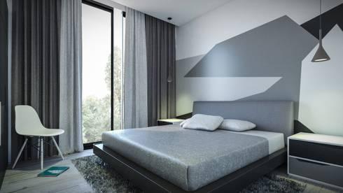 Dormitorio: Habitaciones de estilo moderno por Jaime Quintero Diseño
