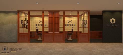 งานออกแบบร้านตัดผม.:  ตกแต่งภายใน by DesignOne Bkk