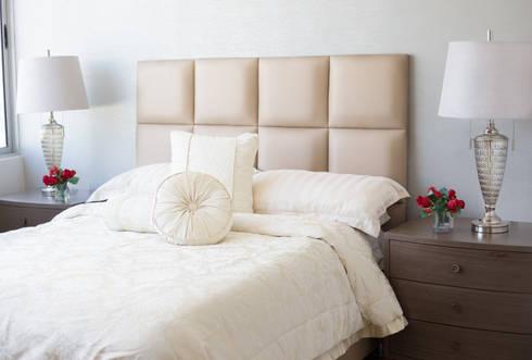 Un proyecto clásico-contemporaneo: Habitaciones de estilo moderno por Monica Saravia