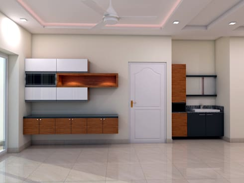 Crockery Cabinet: minimalistic Dining room by FORTUNE DECOR