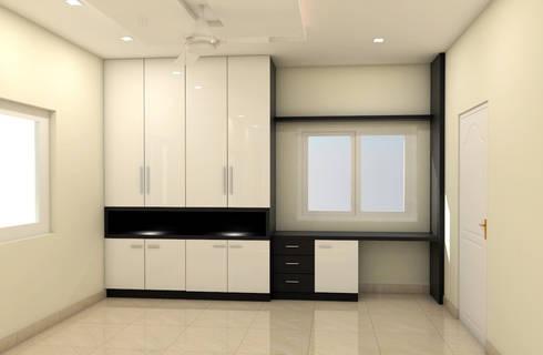 Wardrobe: minimalistic Bedroom by FORTUNE DECOR