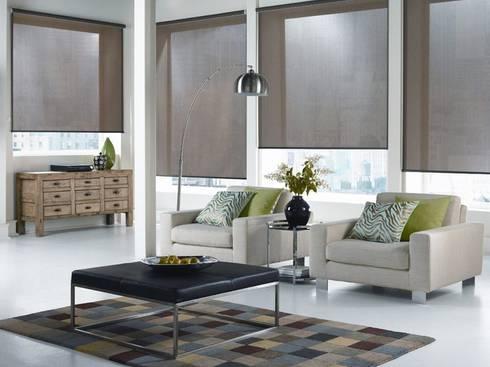 Cortinas Enrollables: Puertas y ventanas de estilo moderno por ABC Decoración Torres & Jiménez Ltda.