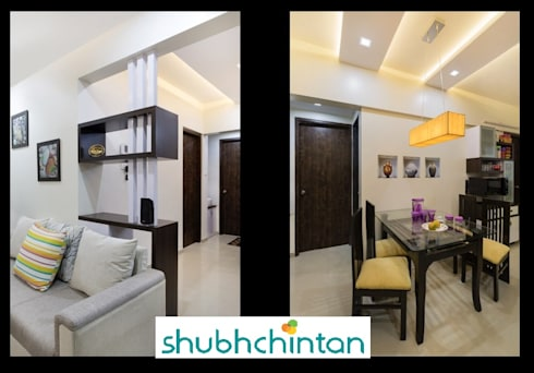 2bhk flat : modern Dining room by shubhchintan
