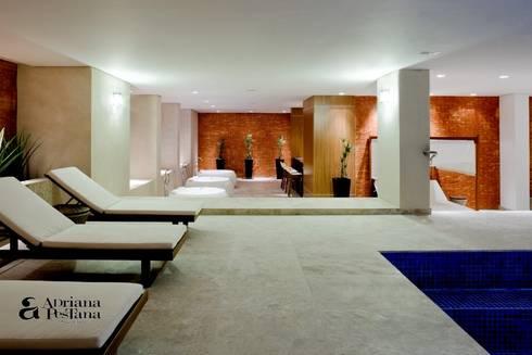 Laser e descanso: Spas modernos por Pestana Arquitetura Concept