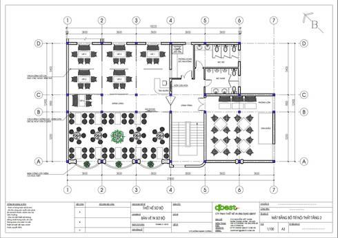 Mặt bằng tầng 2:   by Công ty TNHH Thiết Kế và Ứng Dụng QBEST