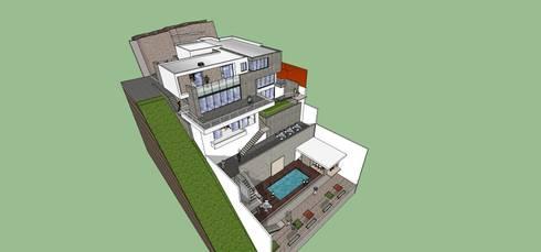 Vista general: Casas de estilo minimalista por MARATEA Estudio