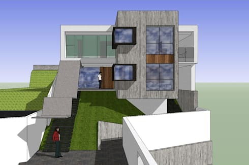 Fachada principal: Casas de estilo minimalista por MARATEA Estudio