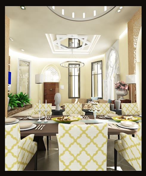 Arabian Villa: classic Living room by GPDS Architects & Interior designers