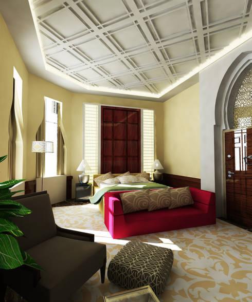 Arabian Villa: classic Bedroom by GPDS Architects & Interior designers