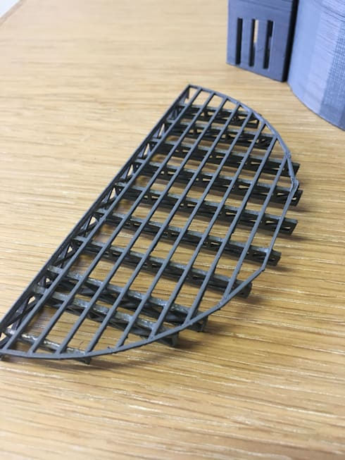 Roof structure 3d print:   by A4AC Architects