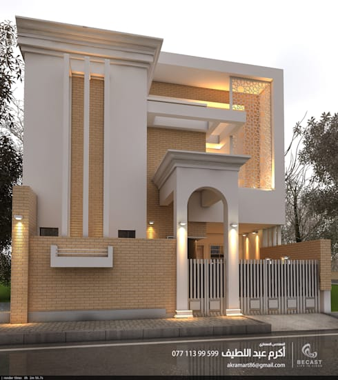 منزل ذو واجهة 6 متر :   تنفيذ Becast
