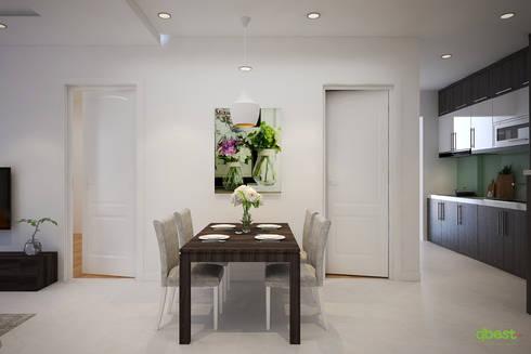 modern Dining room by Công ty TNHH Thiết Kế và Ứng Dụng QBEST