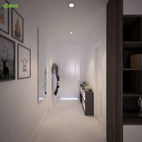 modern Corridor, hallway & stairs by Công ty TNHH Thiết Kế và Ứng Dụng QBEST