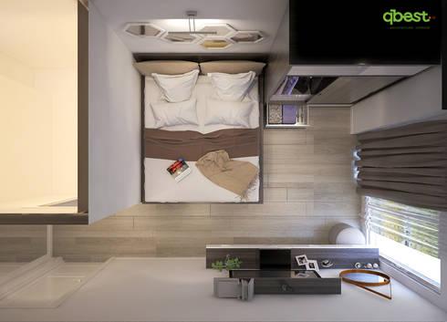 modern Bedroom by Công ty TNHH Thiết Kế và Ứng Dụng QBEST