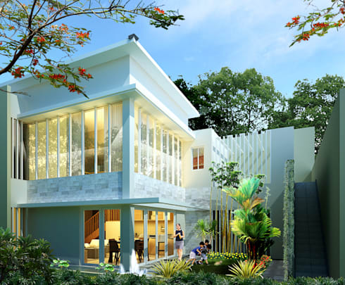 Backyard:   by Evolver Architects