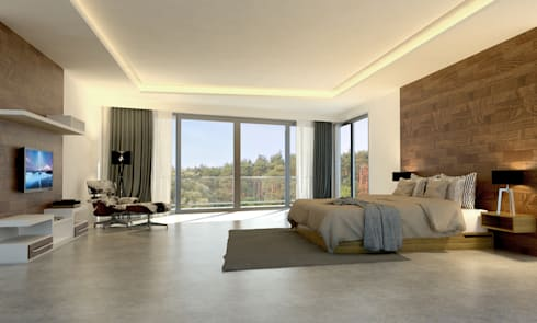Main Bedroom:   by Evolver Architects