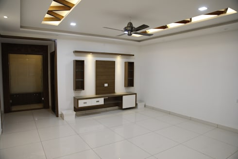 Interior Design For Living Room: asian Living room by Scale Inch Pvt. Ltd.