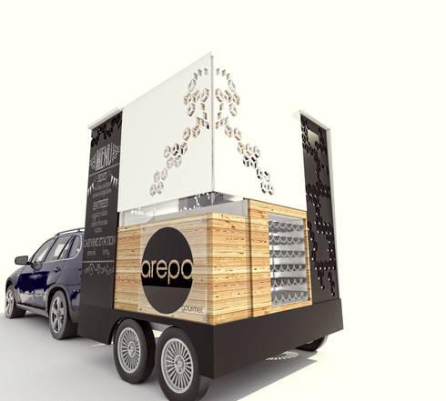 Food truck.: Comedor de estilo  por PROCESOLAB