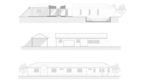 CASA ST: Casas de estilo moderno por NEF Arq.